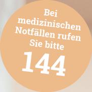 In medizinischen Notfällen rufen sie bitte 144